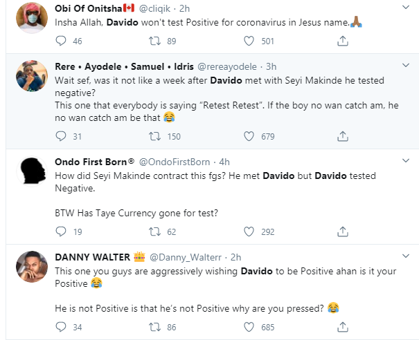 """Davido should redo the coronavirus test again"" – Nigerians react after Governor Makinde tested positive for the virus 7"