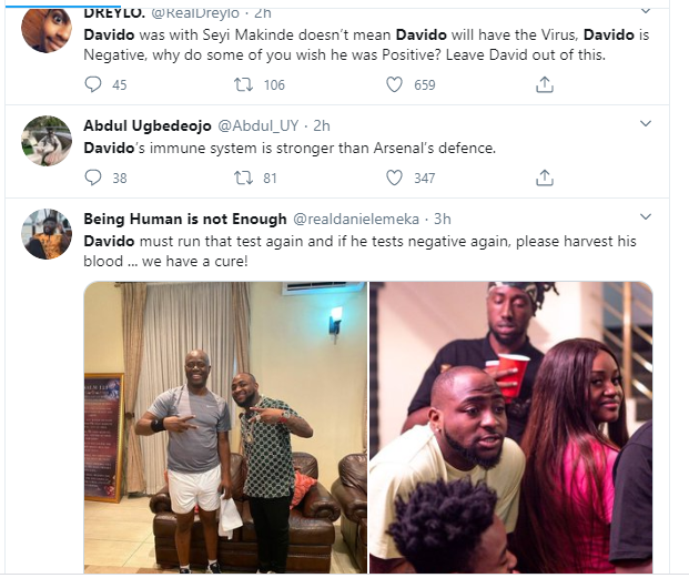 """Davido should redo the coronavirus test again"" – Nigerians react after Governor Makinde tested positive for the virus 8"