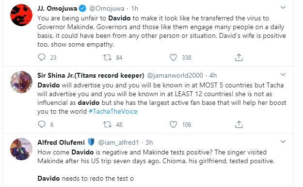 """Davido should redo the coronavirus test again"" – Nigerians react after Governor Makinde tested positive for the virus 11"