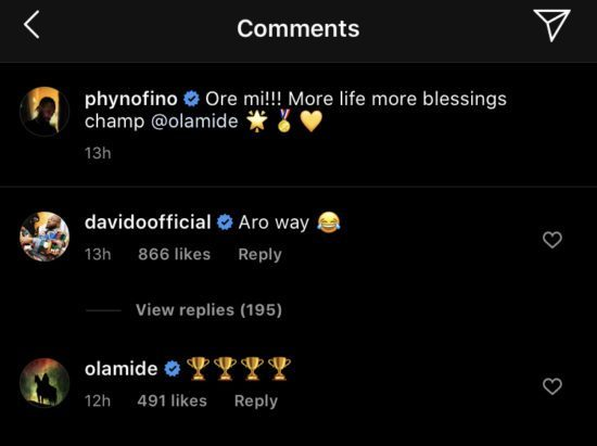 See the birthday message Davido sent to Olamide that has got everyone talking (Photo) 2