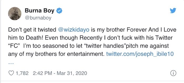 """""""Wizkid Is My Brother & I Love Him To Death"""" – Burna Boy Speaks On Beef With Starboy 2"""