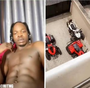 """Do you want all or some? Naira Marley asks as he teases fans with his abs (video) 1"