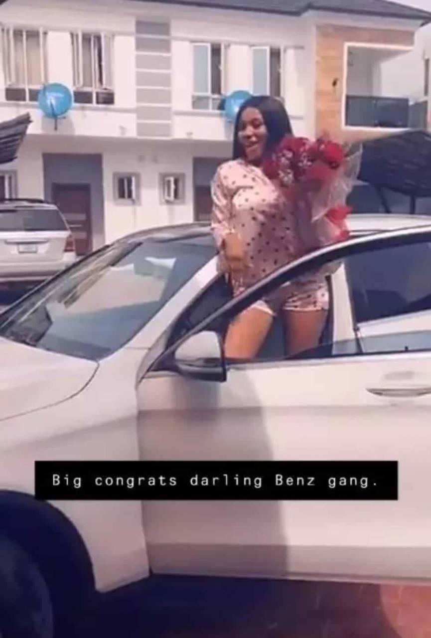 Mercy Eke receives a Mercedes Benz gift (video) 4