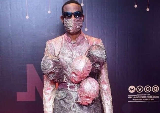Do You Think This Omashola's Dressing To AMVCA Is Enough To Save Him From Coronavirus? (SEE HERE) 1