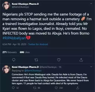 Abba Kyari Was Not Buried Today - Kemi Olunloyo Makes Shocking Revelation 2