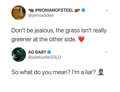 BUSTED!! Singer, Adekunle Gold Confronts Yemi Alade For Allegedly Calling Him A Liar 3