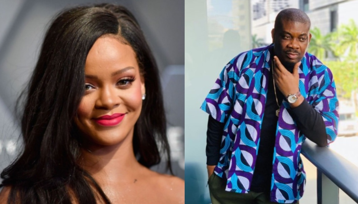 Don jazzy shares picture of him sleeping on international musician, Rihanna (Photos)