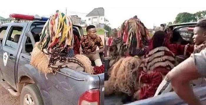 E DON HAPPEN!! Masquerades Arrested For Violating Stay-At-Home Order (See Photos)