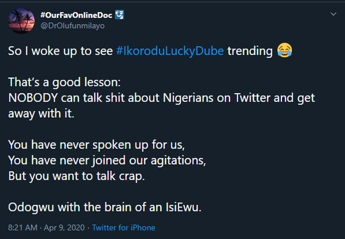 LOL!! Nigerians Are Rubbishing Burna Boy On Social Media, They Now Call Him Ikorodu Lucky Dube – Do You Think He Deserves It? 5