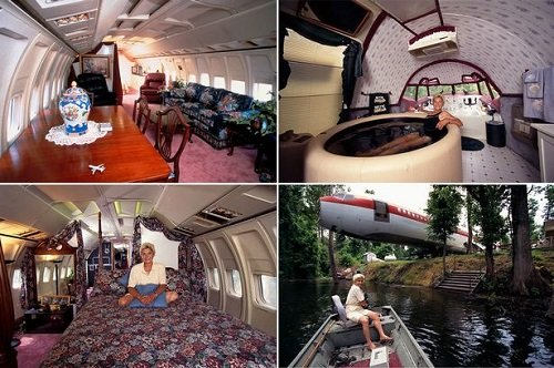 WOW!! See How A Woman Turned An Abandoned Plane Into Her Dream Home (Photos)
