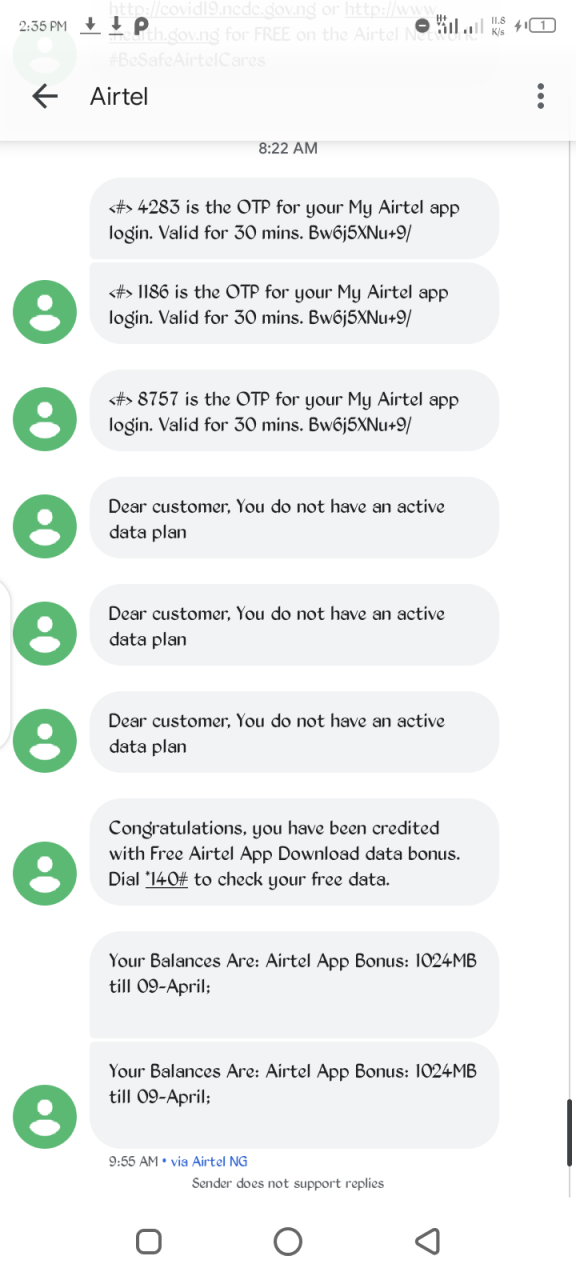 How to get 1GB free data on Airtel from My Airtel app 2