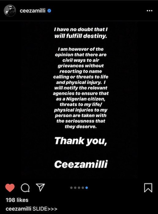 """Ceeza Mili Finally Replies Burna Boy, Still Claims He Wrote """"On The Low"""" Back For Him 6"""