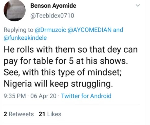 MAD OOO!! Nigerians Dragged AY Comedian For Saying This About Funke Akindele (See Tweet) 6