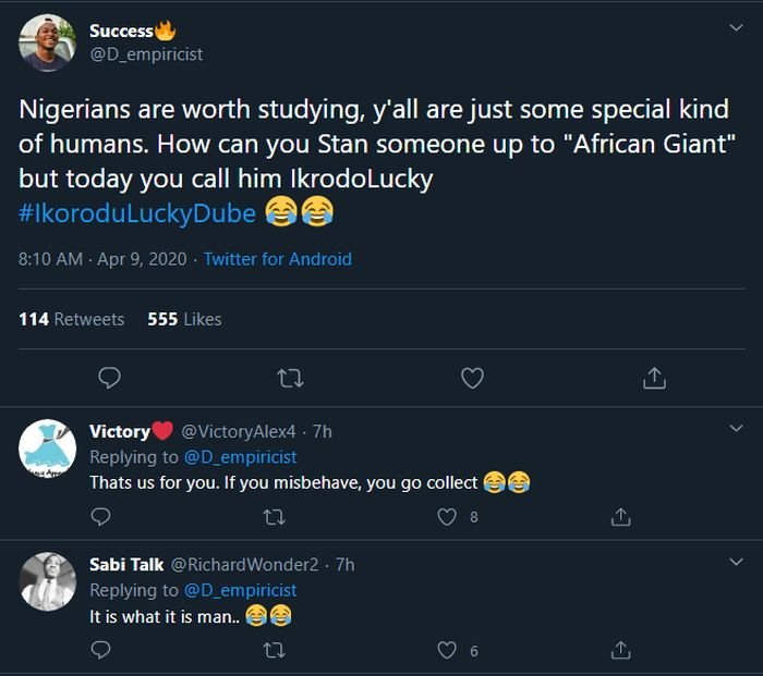 LOL!! Nigerians Are Rubbishing Burna Boy On Social Media, They Now Call Him Ikorodu Lucky Dube – Do You Think He Deserves It? 6
