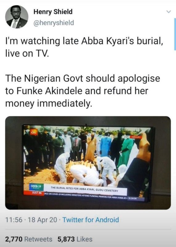 With The Huge Crowd At Abba Kyari's Burial – Should Lagos State Gov't Apologize To Funke Akindele & Refund Her Money? 3