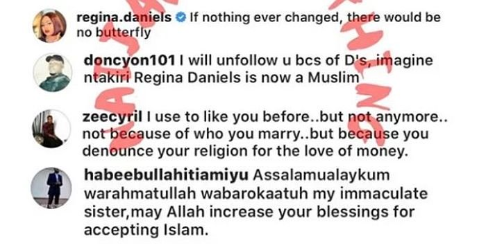 Regina Daniels Allegedly Dumps Christianity, Convert To Islam As Her Religion 2