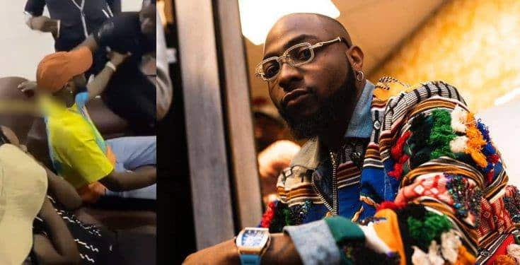 """""""Who Is This"""" – Davido Pushes Fan Who Wanted To Hug Him (Video) 1"""