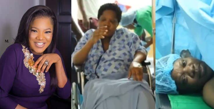 Toyin Abraham releases full video of how she gave birth to her baby in the labour room (Video) min