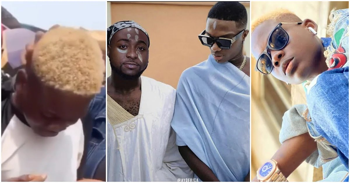 Teenager who edited the controversial photo of Davido and Wizkid sheds tears of joy after getting N1m from singer (video) 1
