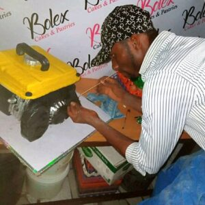 Meet Prince Obua: A Nigerian Man From Rivers State Ikwere Local Government Area Craft Cake Like A Generator. 4