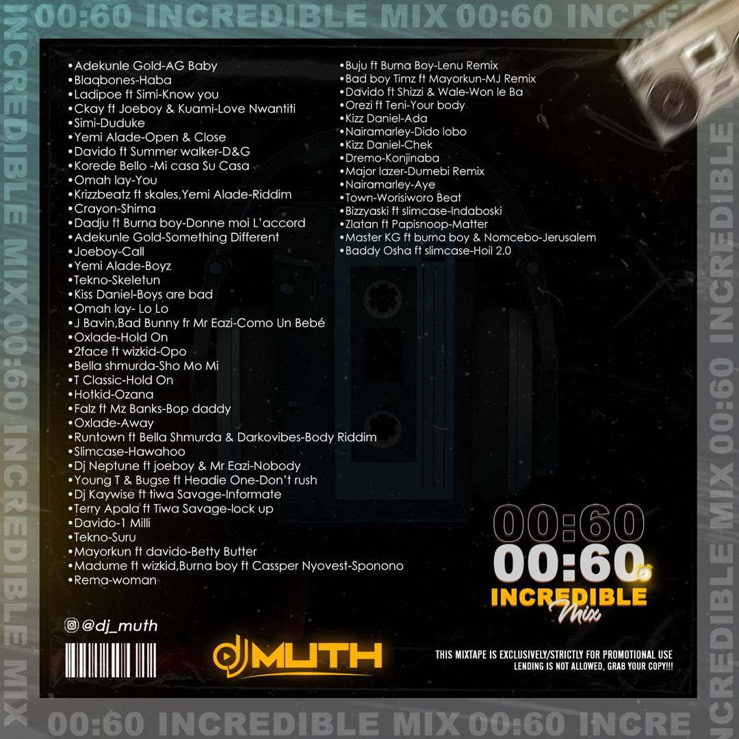 00:60 Incredible Mix (Hosted Dj Muth) 2