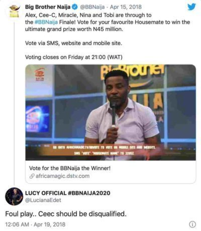 Internet Doesn't Forget; BBNaija Lucy's 2019 Post Shading Mercy & Tacha Pops Up 6
