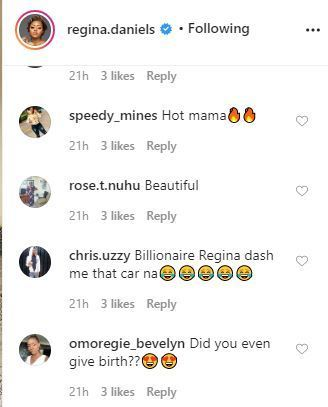 'Did You Even Give Birth?' – Fan Asks Regina Daniels After She Posted This Photo On Her IG 3