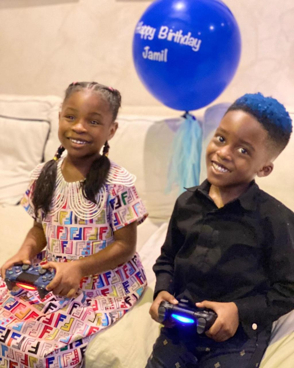 The 2 Celebrity Kids: Davido's Daughter, Imade Wishes Tiwa Savage's Son A Happy As She Calls Him Bestie 1