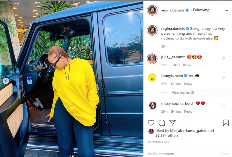 Regina Daniels Flaunts New Car Given To Her By Ned Nwoko After She Gave Him A Son? 2