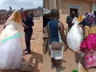 Video: Angry Wife Crashes Husband's 2nd Wedding By Pouring Red Oil On Bride's Gown 72