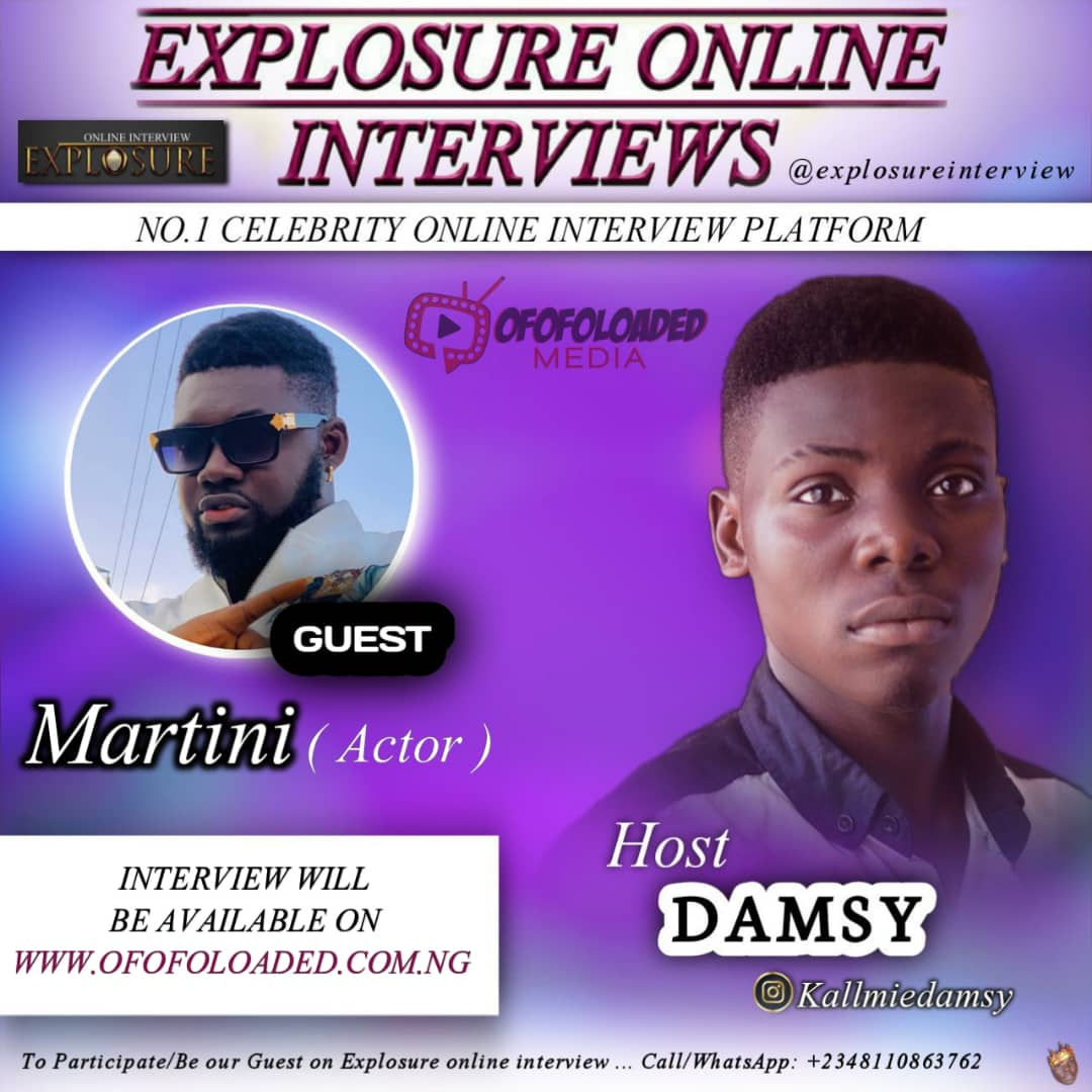 YOU CAN'T CHASE MONEY AND FAME AT SAME TIME – Martini  ( Explosure Online Interview… Hosted by Damsy)