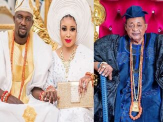 See The Secret Advice The Alaafin Of Oyo Gave To Lizzy Anjorin And Her Husband When He Visited Them In Their Home (Video) 5
