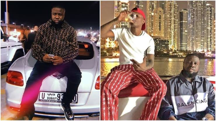 Hushpuppi Is Out??? Was He The One  Spotted Chilling with Nigerian Superstars, Wizkid & Burna Boy In London? (Watch Video) min