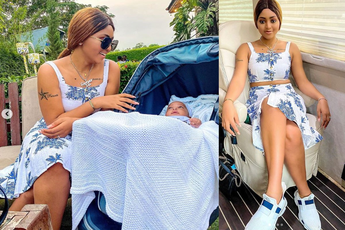 """I Can't Wait To See Him Crawl And Call Me Mama"""" – Regina Daniels Says As She Shares Lovely Photos Of Munir min"""
