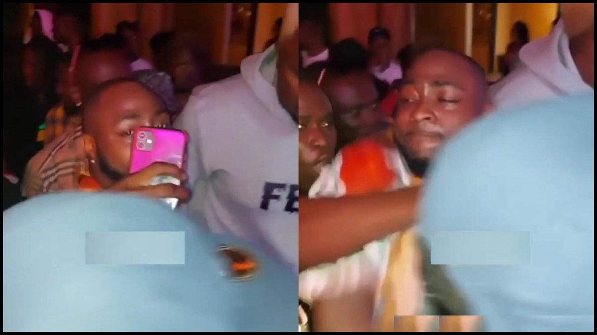 Video: Davido Smashes Phone Of A Guy Who Wanted To Take A Selfie With Him