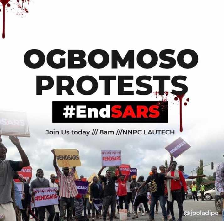 One Man Shot Dead By The Police, Many Injured As Other Rans For Their Lives After Ogbomoso People Storms The Police Station For the #EndSars Protest (Watch Video)