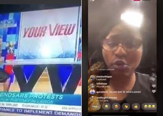 Presenter Morayo Brown, Others Stranded As Angry Mob Attacks TVC Headquarters, Set Station On Fire (Videos)