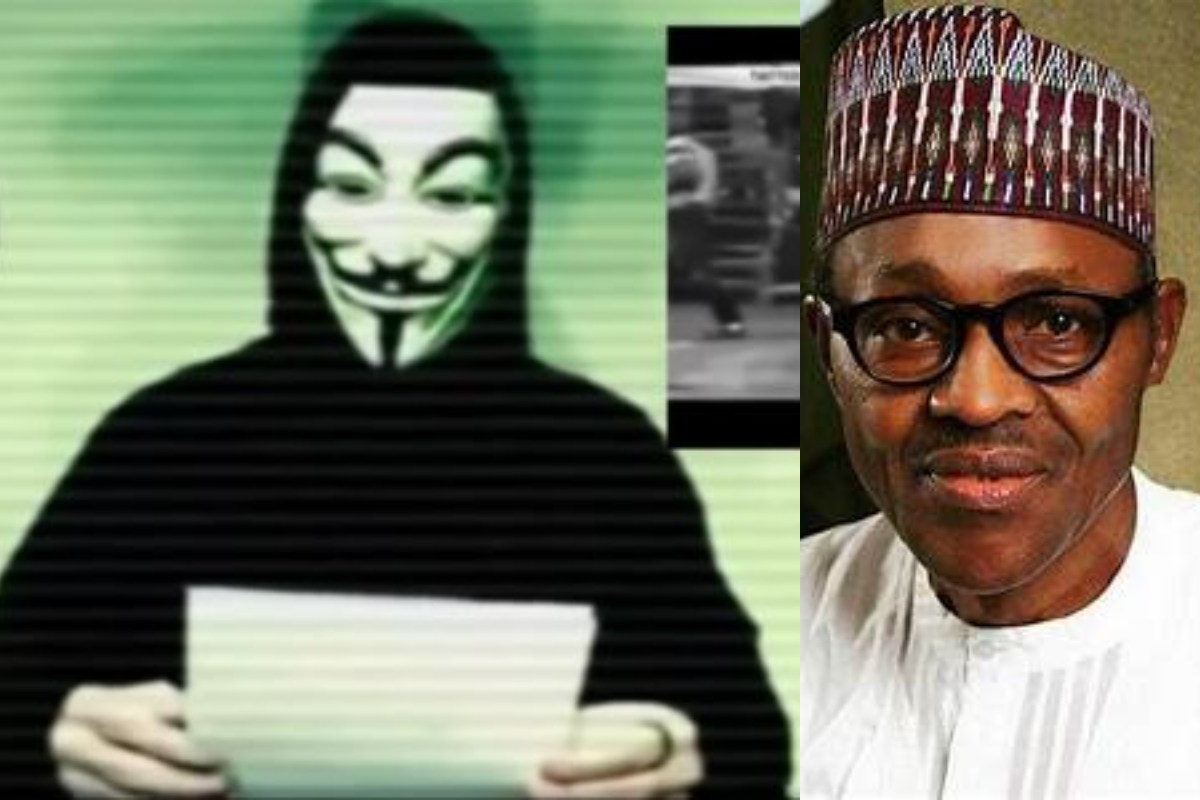 International 'Anonymous Group' Hack Into Nigerian Police Database, Gives President Buhari 72 Hours To Meet The Demands Of #EndSARS Protestors (Photos)
