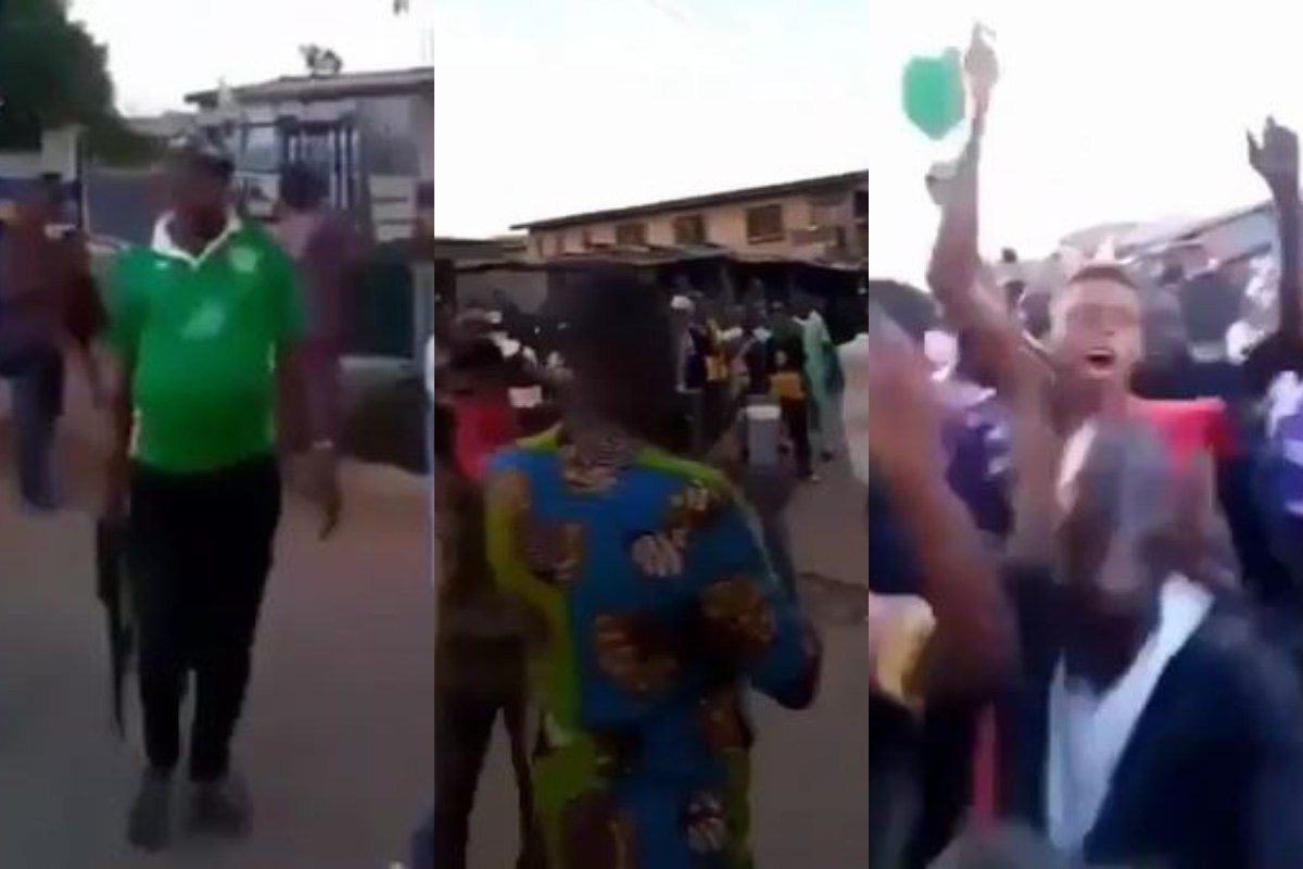 """""""They Attacked Us And The Youth Stood For Us"""" – Agugu Police Hail Youth For Chasing Away Hoodlums Who Tried Burning Down Police Station (Video)"""