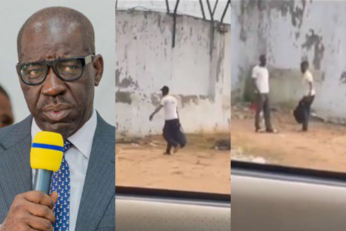 One Of Obaseki's Prisoner's Spotted Returning To Prison After Going On Mid-Term Break (Video)