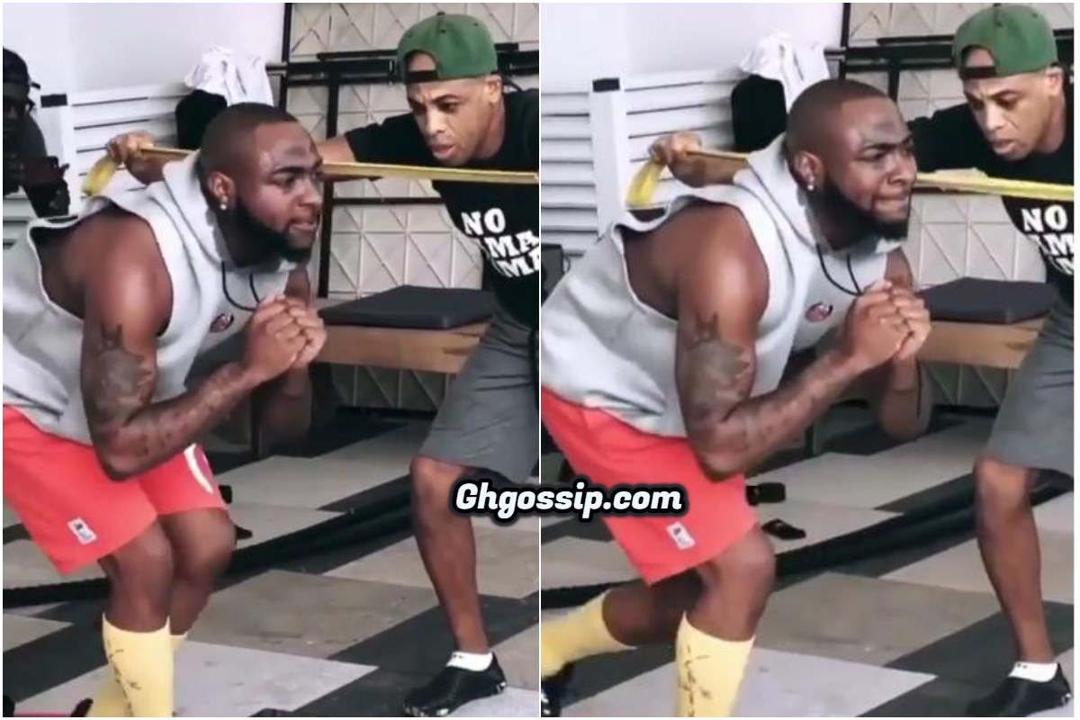"""""""Pot Bellied"""" Davido Hit The Gym To Gain Six-Packs – Video"""