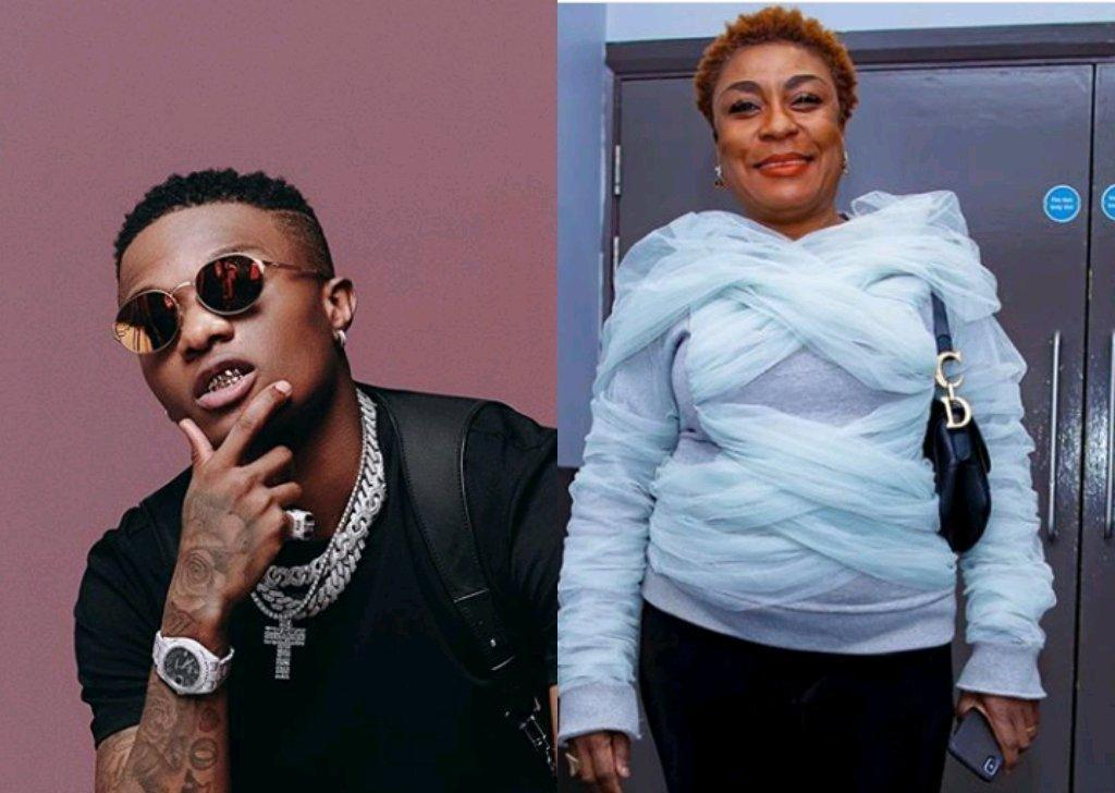 Wizkid Surprises Burna Boy's Mother With A Beautiful Birthday Gift, See What He Got Her