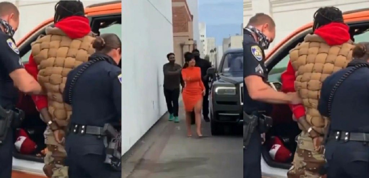 Video: Cardi B Confront Police Officers After Offset Was Dragged From His Car