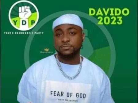 'Davido For President'- Fans React As Davido's 2023 Presidential Campaign Poster Pops Up Online