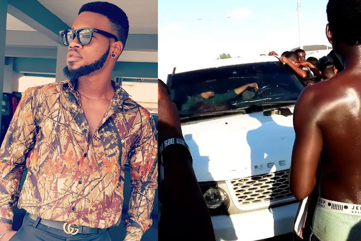 Comedian BrodaShaggi Laments Bitterly After He Was Extorted By Touts Who Damaged His Car In Lekki (VIDEO)