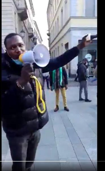 EndSARS: 'Buhari Is A Goat'- Nigerians Protesting In Italy (Video)