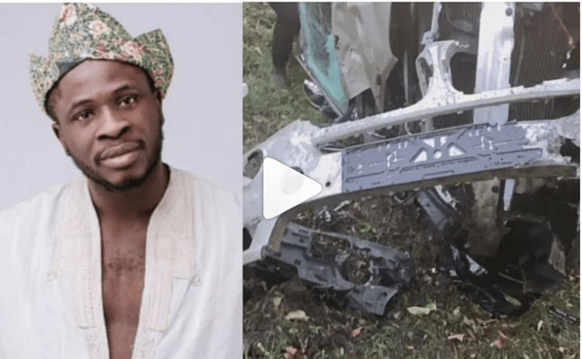 """""""God You Saved My Life On My Wife's Birthday"""" – Comedian Crazeclown Shows Gratitude After Surviving Horrific Accident (Video)"""