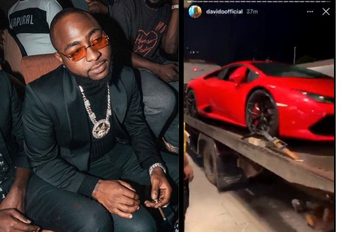 I Go Shout Die! Ur Papa – Davido Descends On A Fan Who Called Him Out For Making Noise About His Lamborghini