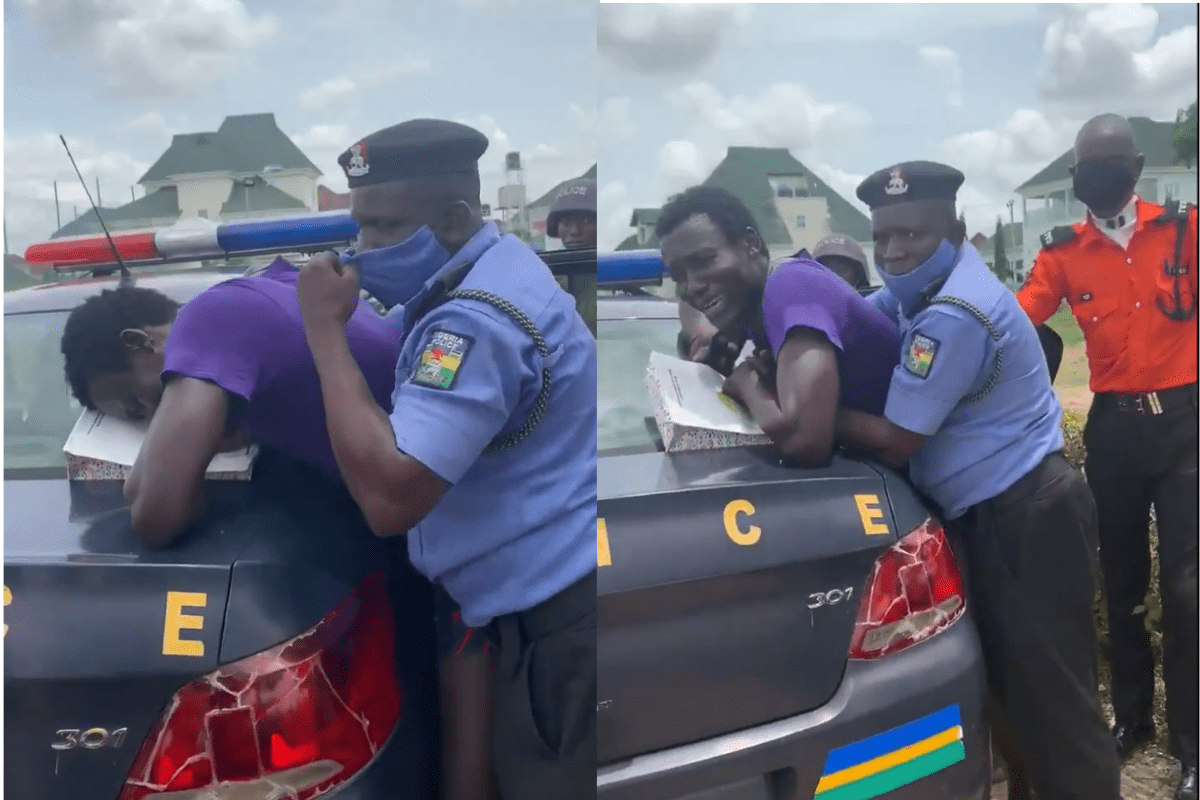 #EndSARS: Moment Police Harassed A Hungry Pedestrian Because He Failed To Wear A Mask (VIDEO)