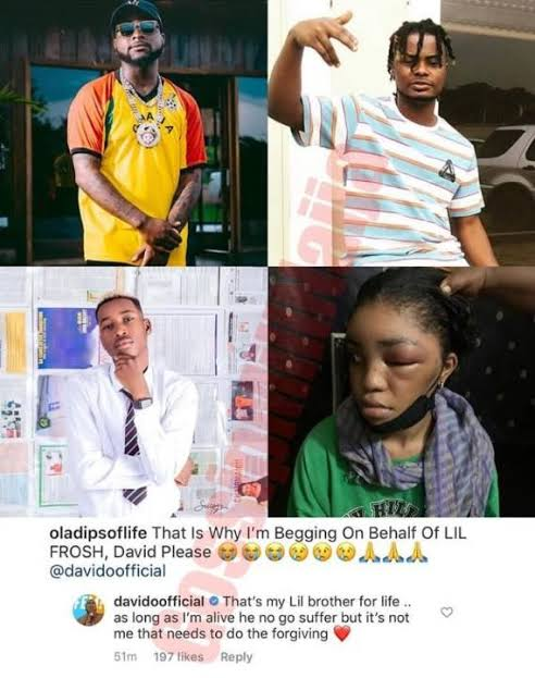 As Long As I'm Alive, Lil Frosh Will Not Suffer – Davido Says After Someone Pleaded With Him To Forgive Lil Frosh